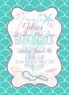 Shutterfly Under The Sea Baby Shower Invitation