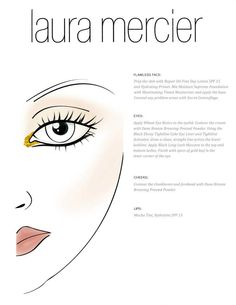 "Laura Mercier: ""Marchesa, Spring/Summer 2013 show"", Face Chart"
