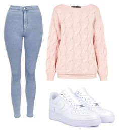 """""""Sans titre #21"""" by leonorabuffo on Polyvore featuring mode, Topshop, AV by Adriana Voloshchuk et NIKE"""