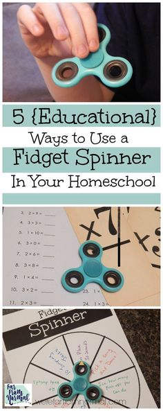 Have your children and homeschool been effected by the spinner craze? Here's 5 educational ways to incorporate the fidget spinner in your homeschool!
