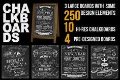 Huge library of chalkboard designs by creative. different. on @creativemarket