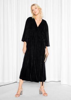 & other stories // velvet wrap dress