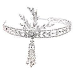 Bring back the roaring 20's in the glamarous Great Gatsby headband. Prom?
