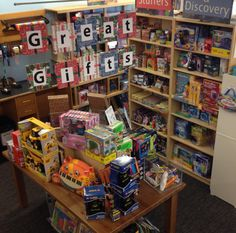 Great gifts from the Toy Section. Check out that eye-catching signage.