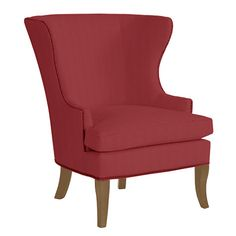 Thurston Wing Chair with Pewter Nail Heads - this chair by the fireplace
