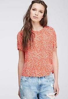 Abstract-Patterned Blouse | Forever 21 - 2000132595
