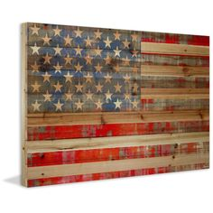 'American Dream' by Parvez Taj Painting Print on Natural Pine Wood