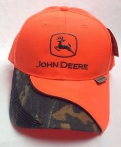 627e6bbb91b John Deere Hat Safety Orange   Camouflage Accents Hunting Fishing New With  Tags. U S Army Retired Cap Hat Black Embroidered ...