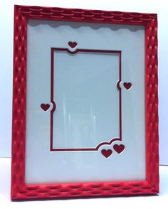 little hearts matboard with red frame for photo
