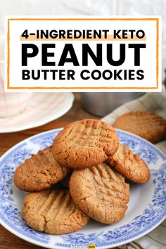 3-Ingredient Peanut Butter Cookies (Low-Carb Recipe)