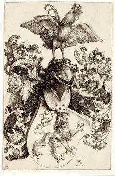 #Albrecht dürer #durer coat of arms with a lion and a cock giclee #canvas print , View more on the LINK: http://www.zeppy.io/product/gb/2/322331515996/