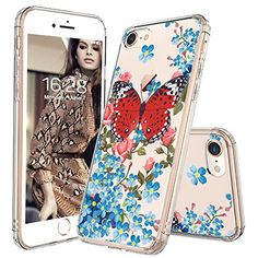 iPhone 8 Case, iPhone 7 Clear Case, MOSNOVO Fashion Butterfly Printed Clear Design Transparent Plastic Hard Back with TPU Bumper Protective Case Cover for Apple iPhone 7 / iPhone 8 inch) Cool Iphone 7 Cases, Iphone 7 Covers, Iphone Cases For Girls, Best Iphone, Cute Phone Cases, Apple Iphone, Iphone Se, Samsung Galaxy