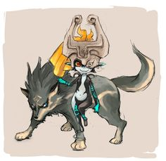 The Legend of Zelda: Twilight Princess, Wolf Link and Midna / 「ミドナ」/「モリスケ」のイラスト [pixiv]