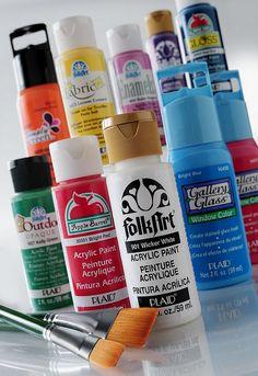 Plaid Paint Brands by PlaidCrafts, via Flickr