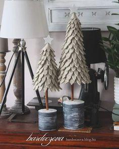 """176 kedvelés, 3 hozzászólás – Hosszú-Bardócz Éva (@hosszubardocz) Instagram-hozzászólása: """"Filc fák hungarocell kúpon, fahéj törzzsel. #felt #christmas #feltedchristmastree #christmastree…"""""""