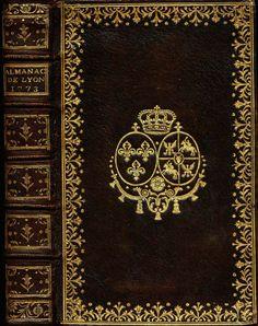 Almanach Astronomique et Historique De La Ville De Lyon circa 1773, Shop Rubylane.com Old Books, Antique Books, Vintage Books, Vintage Antiques, Book Cover Art, Book Covers, Book Art, Islamic Art Pattern, Pattern Art