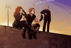 Natasha Romanoff, Clint Barton, Phil Coulson || 500px × 337px || #fanart #clintasha
