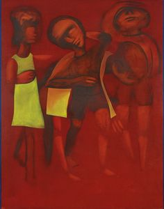 Children Playing, by Charles Blackman, Oil on canvas. Aussies, Australian Artists, Impressionism, Figurative, Oil On Canvas, Art Ideas, Abstract, Children, People