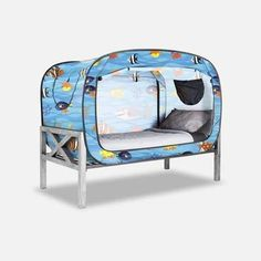 The Bed Tent for Better Sleep during naptime, bedtime, playtime and alone time. Available in multiple colors and sizes. Girl Bedroom Designs, Girls Bedroom, Bedroom Ideas, Floor Bed Frame, Van Conversion Interior, Futon Bed, Bed Tent, Bed Springs, Types Of Beds