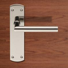 Steelworx CSLP1162B Mitred Lever Handles on Latch Backplate. #backplatelever #backplatehandle #doorhandle