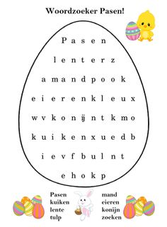 * Woordzoeker.... Educational Crafts, Easter Colors, Spring Crafts, Kids Education, Easter Crafts, Projects For Kids, Happy Easter, Holiday Fun, Diy And Crafts