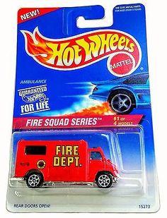 MOC 1996 Hot Wheels #424 Fire Squad Series #1 Ambulance Recast of 1988