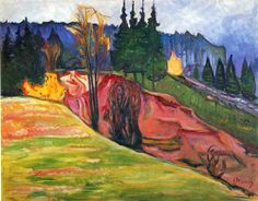 Edvard Munch, From Thuringewald, 1905