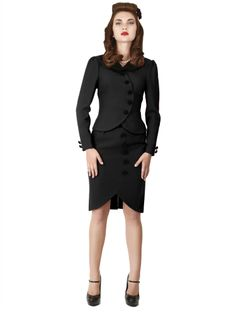 Buttoned Suit Skirt