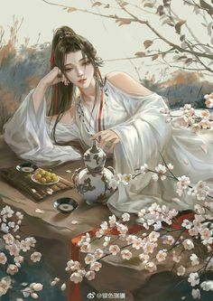 High-rated fantasy books you must read! Flying Lines is a hub of hottest Chinese fantasy novels. And they are all free to read! Chinese Artwork, Chinese Drawings, Art Drawings, Chinese Painting, Art Anime, Anime Art Girl, Beautiful Fantasy Art, Beautiful Life, Art Japonais
