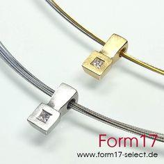 Platin 950 / Gold 18K Princess Diamant - Form17 SchmuckManufaktur