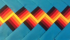 SEMINOLE DESIGN PATCHWORK!! NEW! 9 YARDS!!! FIRE COLORS -WITH TURQUOISE