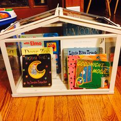 I saw this SOCKER Greenhouse at IKEA today and thought that it would make the most adorable book storage for a playroom! It worked out great! Ikea Hack Kids, Dear Zoo, Sandra Boynton, Ikea Shopping, Little Blue Trucks, Indoor Greenhouse, Good Night Moon, Book Storage, Home