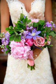 Purple Country Rustic Wedding Flowers
