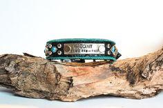 Custom Dog Collar // Leather Dog Collar // Blue Dog Collar // Turquoise Dog Collar