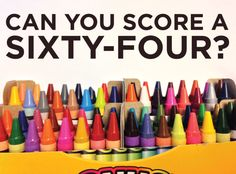 The Great Crayola Quiz-Impossible! I got 32 out of 64!