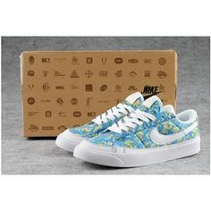 on sale faec3 c5d30 Wmns Blazer Low Prm Women Floral Shoes Blue
