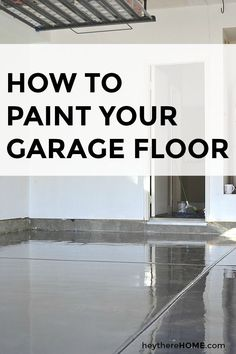 You don't have to hire someone to do a garage makeover. I'll show you how to paint your garage floor using a great product. via @heytherehome