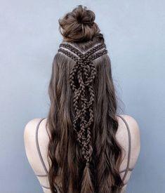 Braided Hairstyles For Black Women Cornrows, Braided Ponytail Hairstyles, Cool Hairstyles, Cute Hairstyles With Braids, Viking Hairstyles, Wedding Hairstyles, Mohawk Braid, Shot Hair Styles, Curly Hair Styles