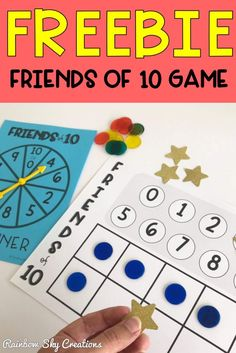 This FREE 'Friends to game helps consolidate addition skills and develop fluency and a solid understanding about number combinations that add to (Rainbow Facts, Friends of Number bonds of A free Math board game for Year 1 and Year 2 (Grade Grade Math Board Games, Fun Math Games, Classroom Games, Free Games, Teaching Addition, Addition Games, Addition And Subtraction, Free Teaching Resources, Teaching Tools