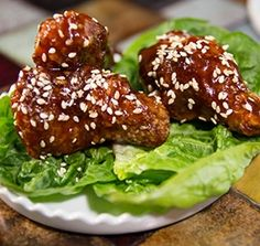 """Like your BBQ wings extra-crispy? Just toss BBQ style wings in toasted sesame seeds when you're done preparing them, and you've kicked the """"crisp"""" factor up a notch! Bbq Wings, Rich Recipe, Toasted Sesame Seeds, Best Appetizers, Pulled Pork, Salmon Burgers, Food Hacks, Snacks, Dinner"""