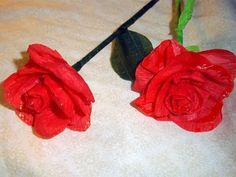 Did I pin this one already? This is a crepe paper rose easy enough for kids to make. Uploaded by simplekidscrafts