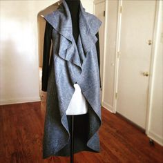 Sleeveless Blanket Coat Tutorial