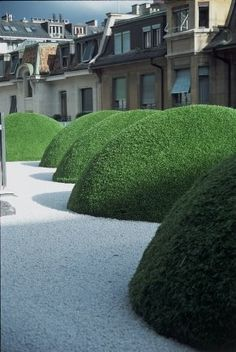 """Purple Area: Luciano Giubbilei. Giubbilei's approach is a modern take on that Renaissance formality. """"I like a strong axis, projecting the lines of the house out into the garden."""" The elements are traditional: the green """"room"""", with its rectangular carpet of grass, framed by hedges and trees, and decorated with architectural objects."""