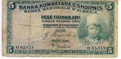 Albania 1926 Five Frankaari as per scan