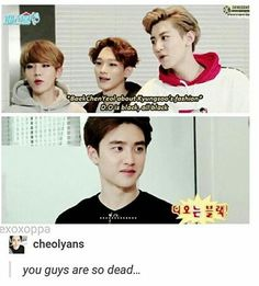Beagle line never stops messing with Kyungsoo <-- Especially Chanyeol