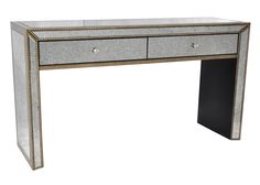 Esme Mirrored Console Table in Antique Gold - NPD