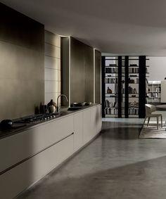 MODULNOVA Blade | Arredo design per tutta la casa Home Organization Hacks, Organizing, Contemporary Kitchens, Modern Kitchen Design, Case, Kitchen Interior, Ariel, Tiles, Dining Room