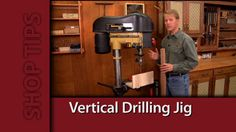 Drill Press Jig for end drilling