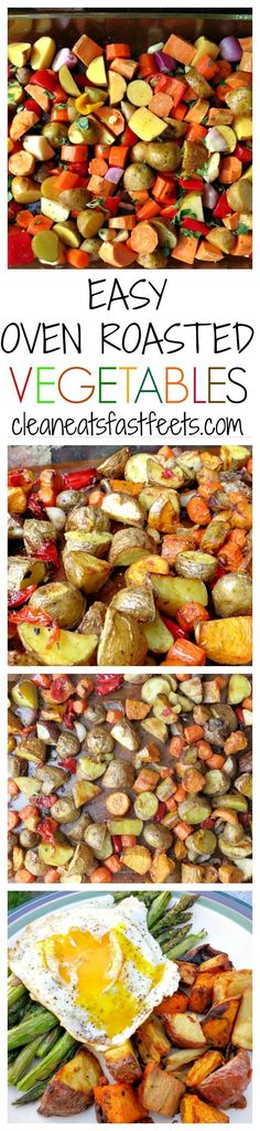 A quick and easy method to roast veggies in the oven. Make a big batch once and eat all week. quick diet clean eating