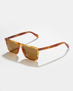Bernardo Polarized Sunglasses, Java by Oliver Peoples at Neiman Marcus.